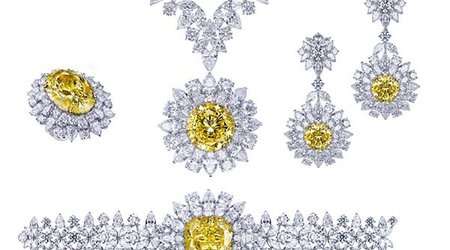 54.21-Carat Fancy Vivid Yellow 'Mouawad Dragon' Highlights Four-Piece Suite