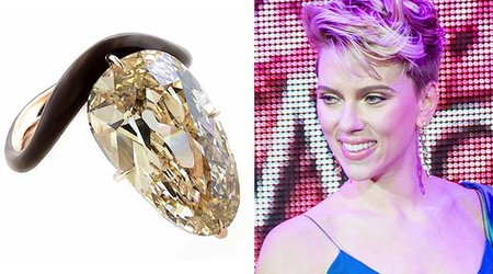 Everybody's Buzzing About Scarlett Johansson's Over-the-Top 11-Carat Stunner