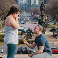 Philly Couple Takes Break From Quarantine to Get Engaged Atop the 'Rocky' Steps